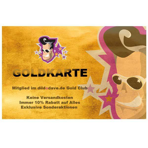 Die dildodave.de GOLDKARTE