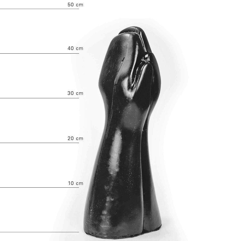 All Black Big Prank Fistingdildo 39 x 16 cm