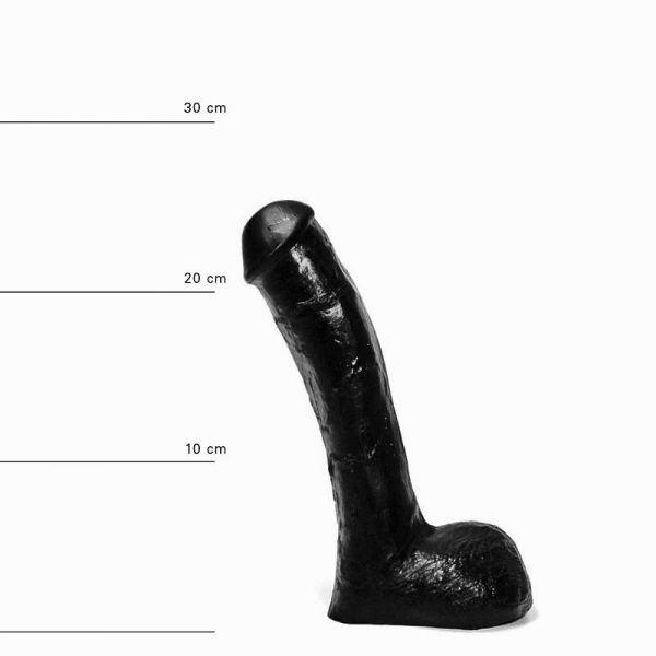 All Black Pisa Dildo 23 x 4,5 cm