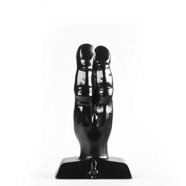 Analplug flinke Finger schwarz 10 x 4 cm