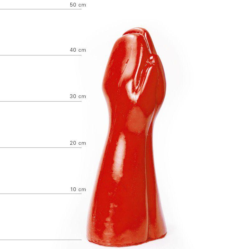 All Red Big Prank Fistingdildo 39 x 16 cm