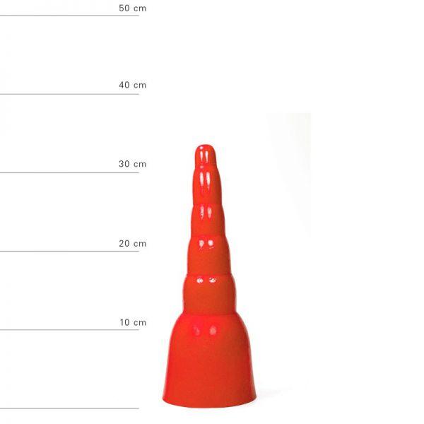 All Red Lutger Dildo, 34 x 11 cm