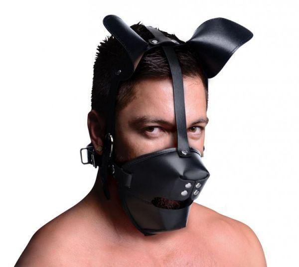 Hundemaske Bello mit Mundknebel