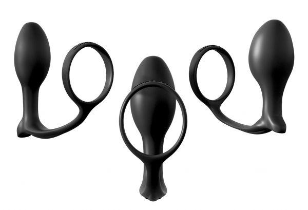 Penisring mit Analplug Trainer Trio
