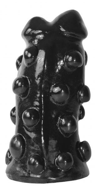 Dildo Doppel-Kopf schwarz 17 x 8 cm