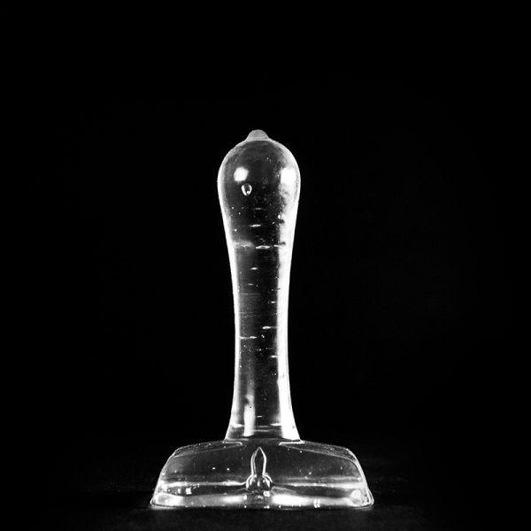 Analplug Nippel transparent 9 x 3 cm