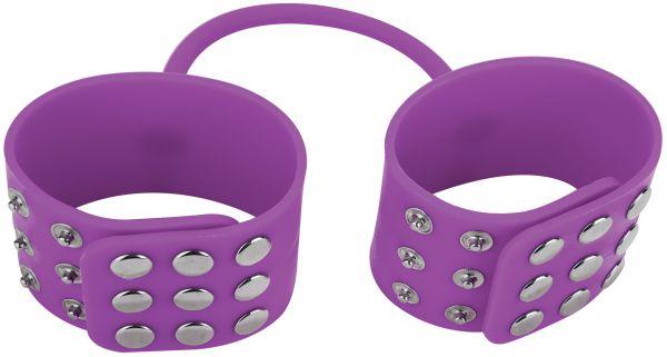 Druckknopf Handschellen lila