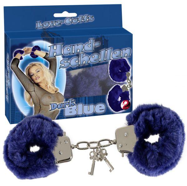 Handschellen Plüsch blau
