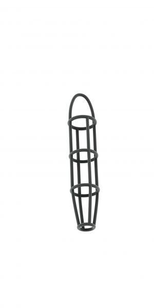 Penishülle Käfig grau 13 x 3,2 cm