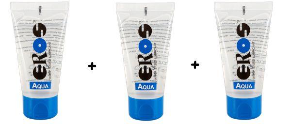 Eros Aqua Gleitmittel 3er Sparset Wasserbasis