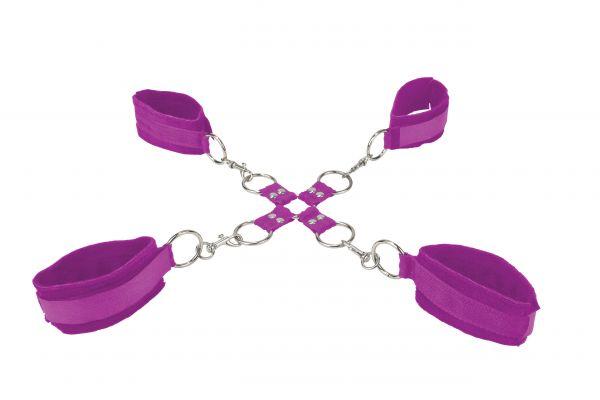 Handschellen Hand und Fuß lila