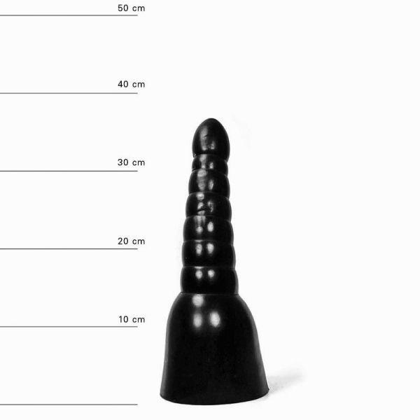 All Black Status Dildo 34 x 11 cm