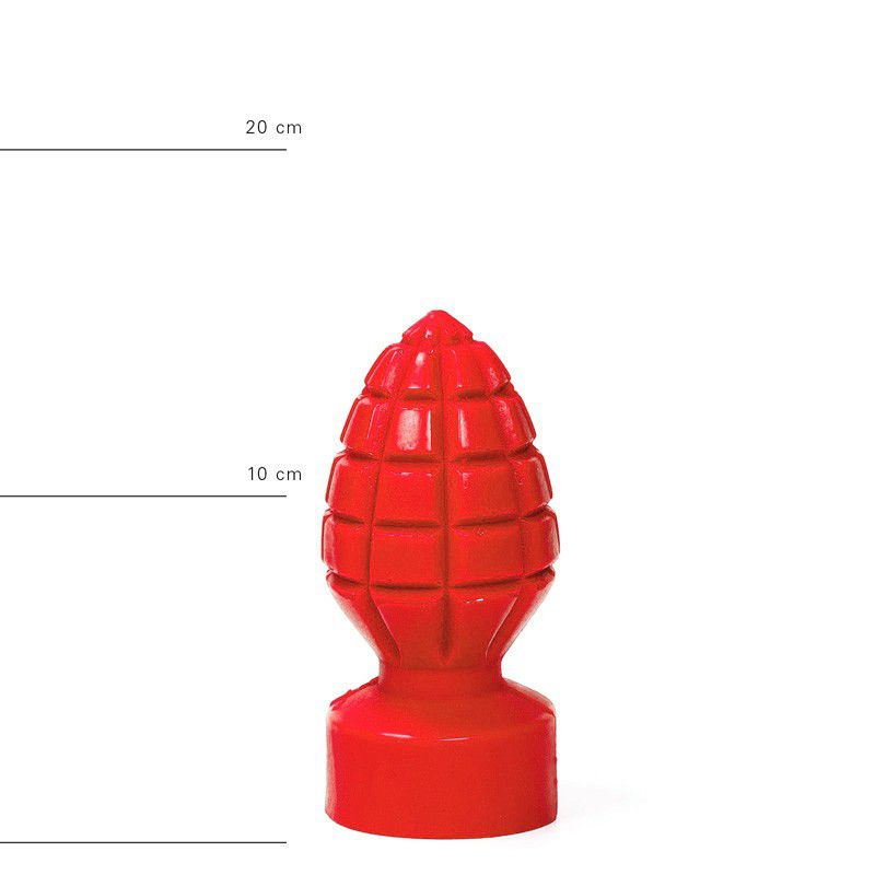 All Red Andreas Buttplug 15 x 6 cm