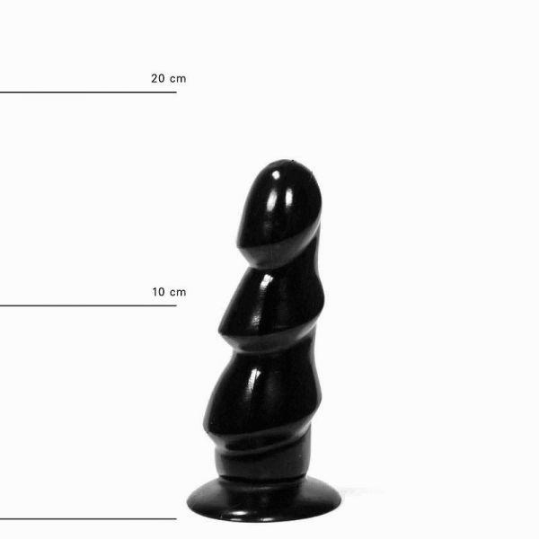 All Black Eichel Trio Dildo 17 x 5 cm