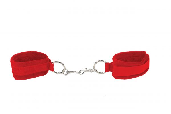 Handschellen Klett rot