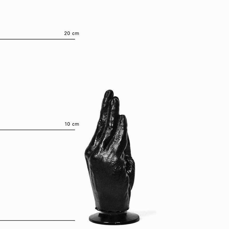 All Black Handy Dildo Fist 16 x 6 cm