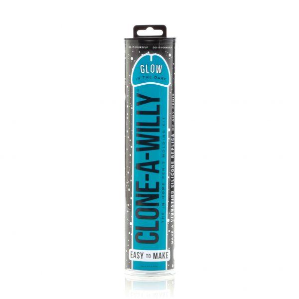 Clone-A-Willy Penisabdruckset mit Vibration - blau - Leuchtet im Dunkeln