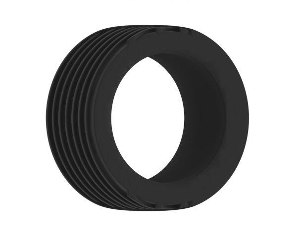 Penisring geriffelt schwarz